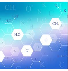 scientific hexagonal chemistry pattern structure vector image vector image