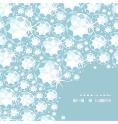 Shiny diamonds corner frame seamless pattern vector