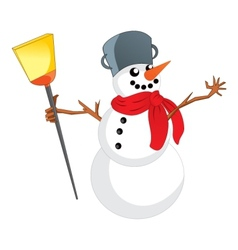 Snowman with scarf vector image vector image