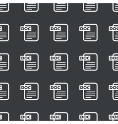 Straight black DOC file pattern vector image
