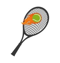 tennis sport rackets emblem vector image