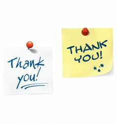 thank you notes set vector image