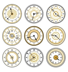 watch face collection vector image