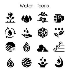 water icon set vector image vector image
