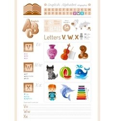 Table english alphabet abc vector