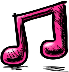 Double music note vector image