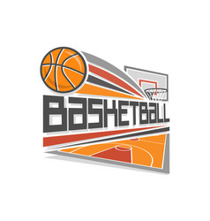 Basketball logo vector