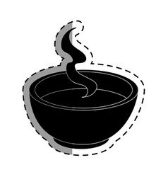 Tea cup japanese culture icon vector