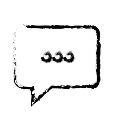 Bubble speech chat dialog speak sketch vector