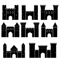 set of medieval castles vector image