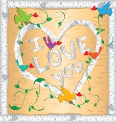 I love you frame vector image