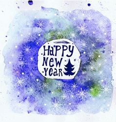 New year greeting card happy new year lettering vector