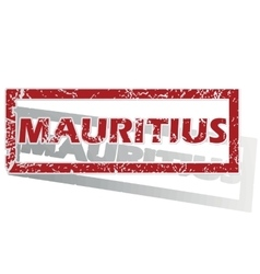Mauritius outlined stamp vector