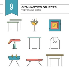 Gymnastics icons vector