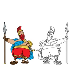 Fat roman cartoon vector
