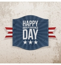 Happy independence day holiday tag vector