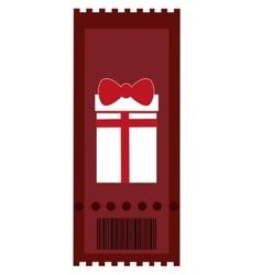 Movie ticket gift icon vector