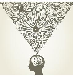 Mechanical Mind vector image