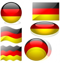 Germany flags vector