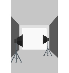 Background of empty photo studio with lighting vector image