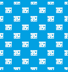 Box magician pattern seamless blue vector