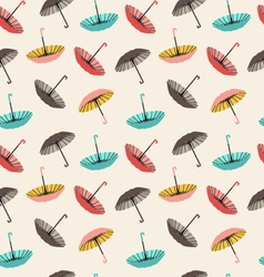 Collection of different fashion umbrellas vector
