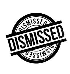 Dismissed rubber stamp vector