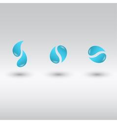 drops logo vector image vector image