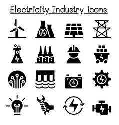 electricity industry icon vector image