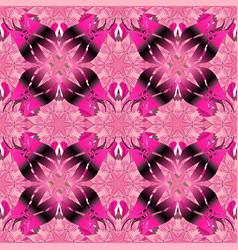 flowers on pink magenta and purple colors vector image vector image
