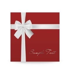 Greeting card with bow vector image vector image
