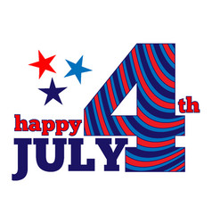 happy july 4 vector image vector image