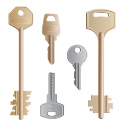 keys set vector image vector image
