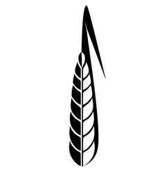 Logo ear of wheat vector