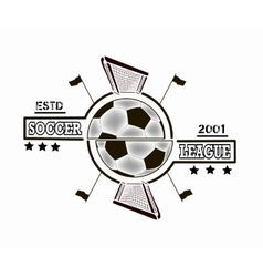 Logo soccer league vector