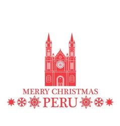Merry Christmas Peru vector image vector image
