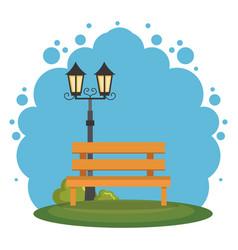 Park scene landscape icon vector