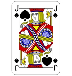 Poker playing card jack spade vector