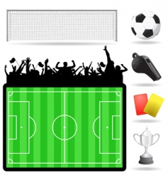 soccer great set vector image vector image