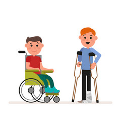 special needs children or handicapped children vector image