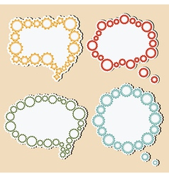Speech bubbles of gears vector image