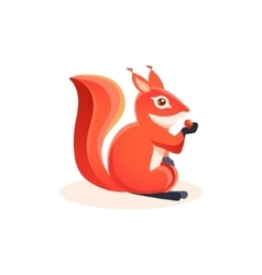 Squirrel eating berry vector