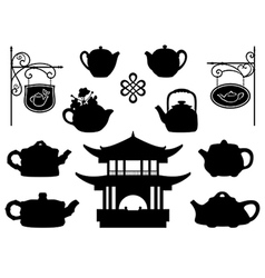 Teahouse vector image vector image