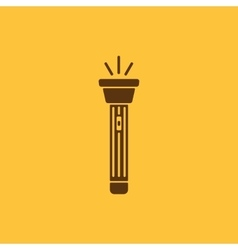 The flashlight icon Torch symbol Flat vector image vector image