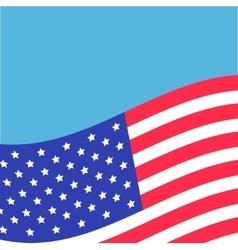 Waving American flag frame Blue background vector image vector image