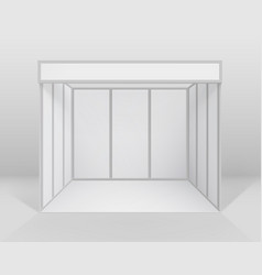 White blank indoor trade exhibition booth vector