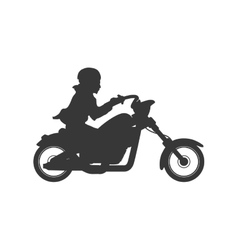 Motorcycle motor motorbike transportation icon vector