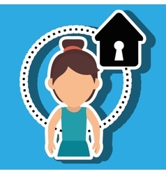 character house secure protection vector image