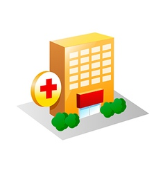 icon hospital vector image