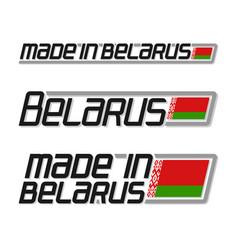 made in belarus vector image